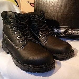 Black Casual Fleece Lined High Top Combat Boot